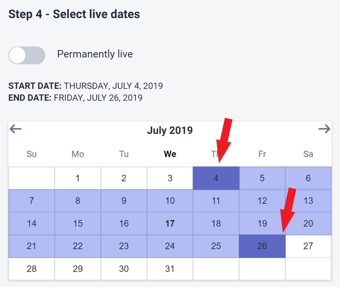 UI Avenue Popup - Select a Date Range