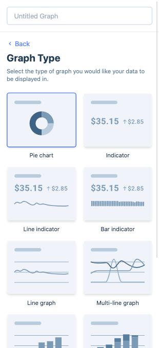 Create a custom report, type